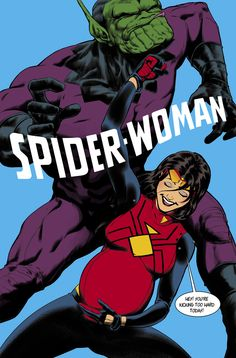 """thejaviercaster: """" Spider-Woman is out Today and you guys are sharing a lot of spoilers. Javier Rodriguez, Feminist Men, Cartoon Photo, Cute Paintings, New Avengers, Spider Verse, Geek Girls, Cool Cartoons, Comic Covers"""