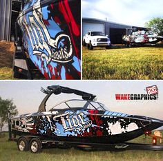 Yet another very cool boat wrap by Wake Graphics!  Material Used: 3M 180C.  Check them out at www.wakegraphics.com Expensive Yachts, Boat Wraps, Cool Boats, Vehicle Wraps, I Cool, Elements Of Art, Car Wrap, Lake Life, A Team