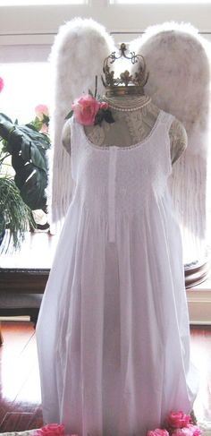 a2c6ec1a9e 100 Cotton sleepwear SMOCKED NIGHTGOWN Large by OHSISTERSISTER