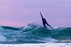 Seignosse-France, surf, sunset