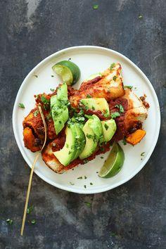 10 Ingredient Gluten-Free Butternut Squash Enchiladas