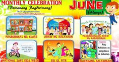 2017 Monthly Celebration with Monthly Motto June Classroom Bulletin Boards, Classroom Walls, Classroom Design, Charts For Classroom Decoration, Top Art Schools, Monthly Celebration, Alphabet For Toddlers, School Border, School Safety