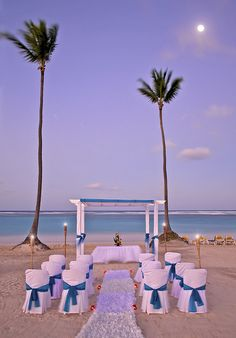 Beach wedding at Ocean Blue & Sand resort in Punta Cana, Dominican Republic. Sigh.