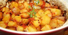 Potato Recipes, Meat Recipes, Hungarian Recipes, Chana Masala, Sweet Potato, Potato Salad, Side Dishes, Food And Drink, Vegetarian