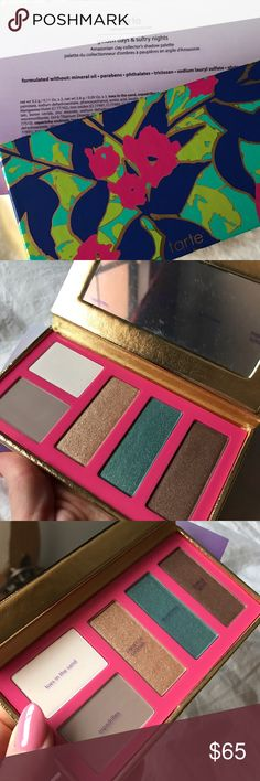"""NEW Tarte Collector's Shadow Palette Authentic Guaranteed! NEW Limited Release Tarte """"Golden Days & Sultry Nights"""" Collector's Palette. I got this as a gift for buying so much makeup from Tarte so I don't have much information but the colors are stunning and perfect for day and night they all blend beautifully together.Offers Taken Into Consideration tarte Makeup Eyeshadow"""