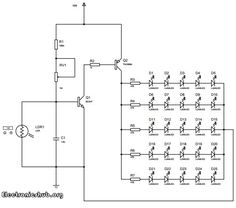 Auto Night Lamp Using High Power LED: It is a circuit which turns ON the LED lights interfaced to it at night time and it turns OFF the lights automatically when it is day. For detailed information about this circuit, visit http://www.electronicshub.org/auto-night-lamp-using-high-power-led/