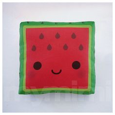 Fruit Pillow Watermelon Pillow Kawaii Pillow Stuffed by mymimi, $14.00