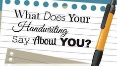 From the slant of your letters to the amount of space between words, this infographic explains what your writing reveals about you.