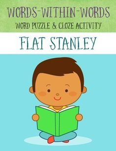 Flat Stanley Words-within-Words puzzle and Cloze exercise based on the events in the novel.