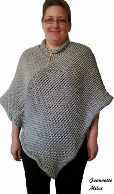 Knit In The Round Poncho Pattern : 1000+ images about loom knit poncho on Pinterest Loom Knit, Ponchos and Loom