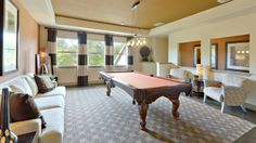 Invite your #friends over and challenge them to a game of #pool in your Darling Homes #game #room. #billiards #mancave