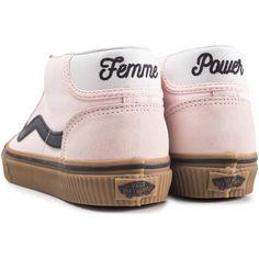 4898e84f659 Chaussures Femme Baskets montantes Vans Mid Skool Daim Femme rose
