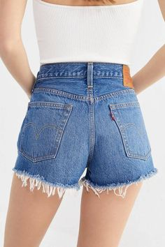 Urban Outfitters Levi's 501 Mid-Rise Denim Short – Indigo Avenue Found on my new favorite app Dote Shopping Levis Jeans, Ripped Denim, Levis 501, Jeans Pants, Trousers, Womens Fashion Online, Latest Fashion For Women, Denim Shorts Outfit, Denim Outfits