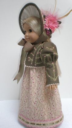CAROLINE ABBOTT REGENCY Dress 4pc  American Girl by dollupmydoll, $130.00