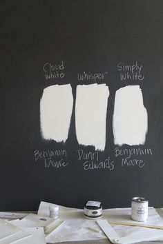 - too yellow for my living room. Maybe Simply White? White Paint Colors, Best Paint Colors, Interior Paint Colors, Paint Colors For Home, White Paints, Wall Colors, House Colors, Benjamin Moore Cloud White, Benjamin Moore Paint