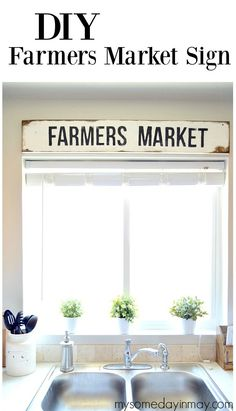 DIY Farmers Market Sign with a free printable template