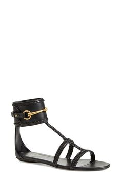 c51e0d1e5c Gucci  Ursula  Braided Flat Sandal (Women) available at  Nordstrom Sexy  Sandals