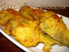 Carciofi in pastella