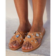 RiRiPoM X Strap Sandals Greek Leather Sandals Boho Sandals (€169) found on Polyvore
