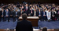 """""""James B. Comey, the recently fired F.B.I. director, said Thursday in an extraordinary Senate hearing that he believed Pres Trump had tried to derail an investigation into his national security adviser, and accused the president of lying and defaming him and the F.B.I.  Mr. Comey, no longer constrained by the formalities of a govt job, offered a blunt, plain-spoken assessment of a pres whose conversations unnerved him from the day they met, weeks before Mr. Trump took office.""""..."""