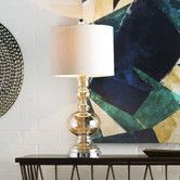 "Found it at Wayfair - 22"" H Table Lamp with Drum Shade"