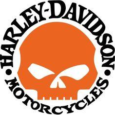 Orange skull ah #harleydavidsongirlsclothes