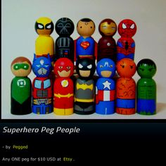 These are the best peg people I've seen so far. I want to make these for Jayden.