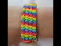 Rainbow Loom WILLIS Bracelet. Designed and loomed by Claire's Wears. Click photo for YouTube tutorial. 05/18/14.