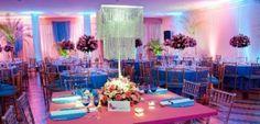 Decoração de festa de 15 anos nas cores azul e rosa. http://www.seuevento.net.br/uberlandia/artigos-e-dicas/11/10/2013/cores-de-decoracao-para-festas-de-15-anos/
