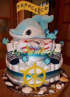 Sea diaper cake