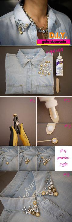 #Camisa #Pedrarias #Jeans