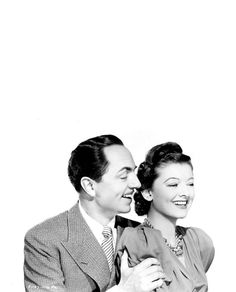 William Powell and Myrna Loy, The Thin Man.