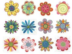 Flowers Garden Machine Embroidery Designs | Designs by JuJu