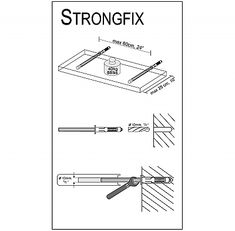 Dolle Strongfix Floating Shelf Brackets For Hearth Room