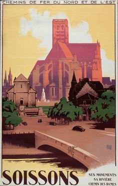 Art France Travel Print Siossons Vintage Poster by Blivingstons Pub Vintage, Vintage Stuff, Tourism Poster, Ville France, Railway Posters, Cool Posters, Design Posters, Illustrations And Posters, Vintage Travel Posters
