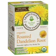 Traditional Medicinals Organic Roasted Dandelion Root Tea - Caffeine Free - 16 Bags *** Read more at the image link. (This is an affiliate link) Dandelion Root Tea, Dandelion Tea Benefits, Herbal Tea Benefits, Water Benefits, Herbal Leaves, Organic Herbal Tea, Healthy Liver, Healthy Eating, Gourmet