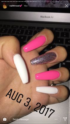 What manicure for what kind of nails? - My Nails Summer Acrylic Nails, Best Acrylic Nails, Acrylic Nail Designs, Summer Nails, Long Nails, My Nails, School Nails, Fire Nails, Dream Nails