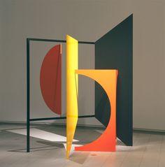 primary colors sculpture by Peter D. Geometric Sculpture, Abstract Sculpture, Sculpture Art, Contemporary Sculpture, Contemporary Art, Artistic Installation, Booth Design, Art Design, Public Art