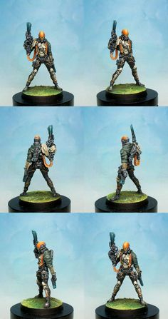 I painted it in the studio of Corvus Belli for the range Infinity It was sculpted by Jose Luis Roig I used Model Color ,Game Color an...