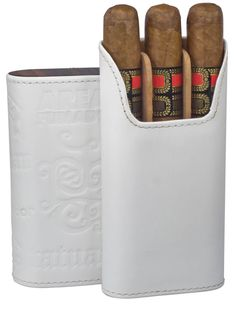 Tatuaje Area Fumado White Genuine Leather Cigar Case Leather Cigar Cases Tatuaje Cigars are known for the bold and full-bodied flavors, each and every one Leather Cigar Case, Cigar Cases, Business Gifts, Wallet, Pipes, Wedding, Cigars, Valentines Day Weddings, Weddings