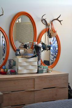 Tangerine Tango Mirrors #PinPantone