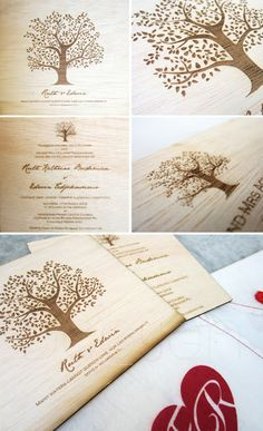 DECYGN: Rustic and Natural Wedding Invitation