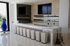 The vodka bar is seen inside 1181 N Hillcrest Road at Trousdale... News Photo | Getty Images