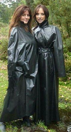 Rain Cape, Rubber Raincoats, Heavy Rubber, Pvc Coat, Rain Gear, Piece Of Clothing, Lady, Womens Fashion, How To Wear