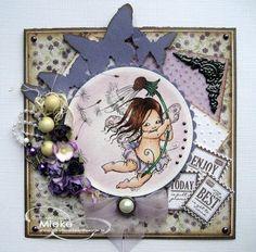 Elke Kaart Een Feestje!: Uitdaging 152 Mo Manning, Digital Image, Cardmaking, Decorative Plates, Scrap, Paper Crafts, Magnolia, Fairies, Frame