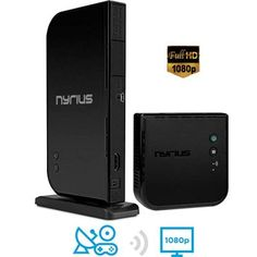 Nyrius Wireless Hdmi Input Transmitter & Receiver for Streaming HD Video from Cable, Bluray, Xbox, PC, Black Digital Cable, Digital Audio, 3d Video, Thing 1, Cable Box, Wireless Speakers, Hd 1080p, Cool Gadgets, Xbox One