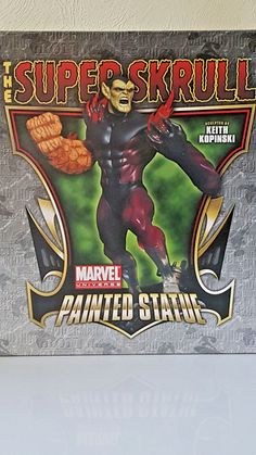"""Bowen Marvel Figur """"THE SUPERSKRULL"""" Stands over 12 Inches Strictly Limited Neu! Marvel Characters, Comic Books, Statue, Baseball Cards, Comics, Painting, Ebay, Design, Art"""