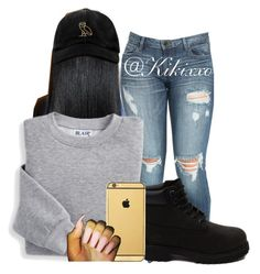 """✨✨"" by kikixxo ❤ liked on Polyvore featuring Blair, Timberland, October's Very Own and Goldgenie"