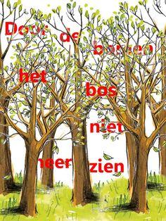 Door de bomen het bos niet meer zien!