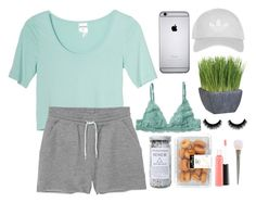 """""""chill"""" by zombiegirl101 ❤ liked on Polyvore featuring Monki, Topshop, Crate and Barrel, Herbivore and MAC Cosmetics"""